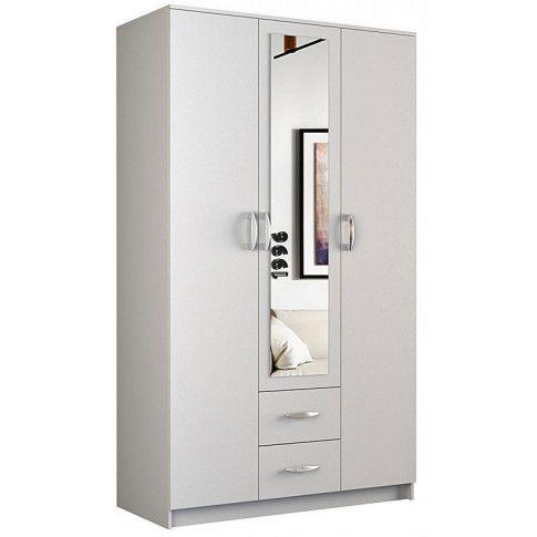 biała szafa z lustrem w ofercie sklepu Edinos.pl