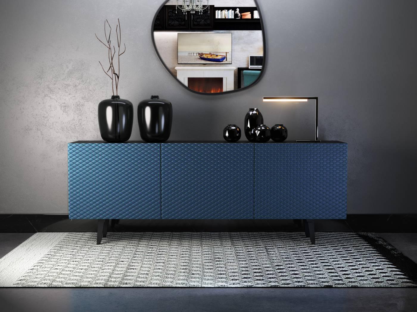 Ekskluzywne komody do salonu, czyli jak w 3 krokach urządzić wnętrze w stylu glamour